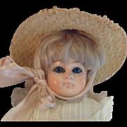 """Sweet 14"""" Patent Washable Papier Mache Child"""