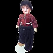 """SALE Sweet 8"""" Original Bisque Head Dutch Regional Boy"""