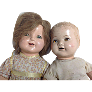 "Two As Is American Character Dolls 17"" and 20"""