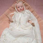 Precious 6 In. Gebruder Heubach Bisque Head Character Baby