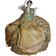 REDUCED Original Mounted Flapper Pincushion Doll, Arms Away