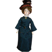 13.5 In. French Verlingue Closed Mouth Lady Doll Mrk Lutin