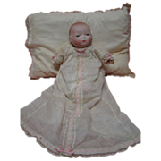 REDUCED German Bisque Bye-Lo Baby, Stamped Body, Blue Sleep Eyes