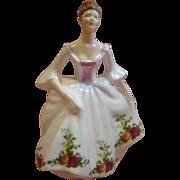 Fine Bone China Royal Doulton Lady Figurine Country Rose