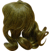SOLD French Cheveux Human Hair Wig 6.5 In. Head Cir.; Long Curls