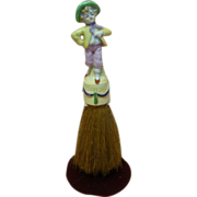 8 In. German China Figurine, Hansel, as Brush Handle