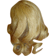 4.5 In. Cir. French Human Hair Long Blond Curls Wig