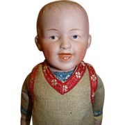 Original Antique Gebruder Heubach Laughing Character (Closed Mouth) Boy
