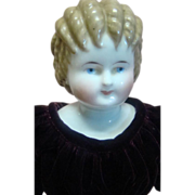 "REDUCED 19 In. China Shoulder Head Doll, ""Curly Top"" with Tan Hair"