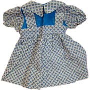 Factory Crisp Cotton Dress for Composition or Hard Plastic Doll Such as Terri Lee
