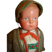 10 In. All Celluloid Original German Character Toddler Boy Doll with Turtle Mark Hang Tag ...