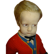 "REDUCED 16.5 In. Felt Doll from Italy, ""The Sweater Boy"" from the 300 Series ..."