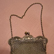 SALE Vintage German Silver Mesh Lady's Purse
