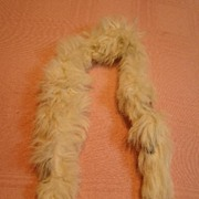 Authentic Factory Fur Stole for a French Fashion Doll