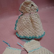 3 Pc Vintage Knitted Outfit for 6-6-1/2 In Antique Doll