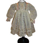 SALE Cutest German Character Toddler Dress, Swiss Organza, Laces