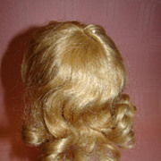 """SOLD 9.5"""" Cir. Sz 3 Human Hair Wig in Original Curly Style with Bangs"""