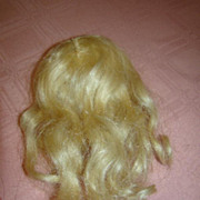 """SALE 9"""" Cir. Side Part Blonde Wig Replacement for Antique Doll"""