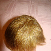 SOLD Cute Mohair Wig for a Small Doll, 6 In. Cir.