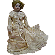 1860's Rare French Mechanical Waltzing Steiner Doll with Voice Mechanism,