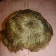 SOLD Original Mohair Baby Wig and Attached Cardboard Pate