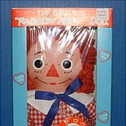 NRFB Knickerbocker Raggedy Andy Doll