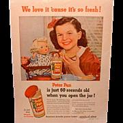 Terri Lee Doll in Peter Pan Peanut Butter Ad 1952
