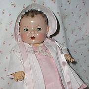 SALE Effanbee Dy-Dee Jane Mold 1 FACTORY ORIGINAL Coat and Bonnet - BabyPink