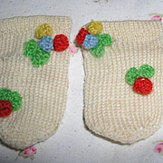 """Vintage WOOL MIttens for 11"""" to 15"""" Effanbee Dy-Dee and other Dolls"""