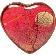 Adjustable Hard Resin Red Full Moon Ring