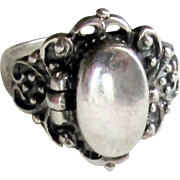 Secret Compartment Vintage Sterling Silver Ring