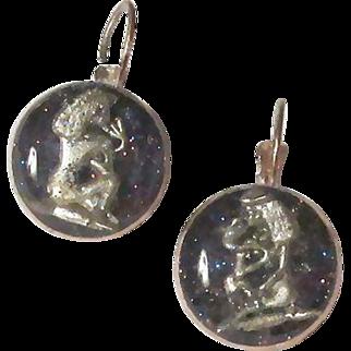 Egyptian Goddess Isis Earrings Pierced Leverbacks
