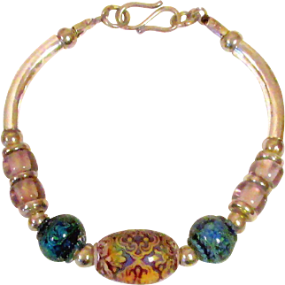 Color Changing Mood Bead Silver Plated Bracelet