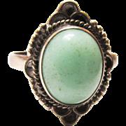Vintage Size 9 Blue Stone Ring