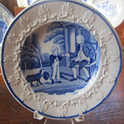 Staffordshire Transferware Childs Plate Rare Rogers Perfect