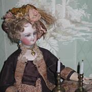 SWEET Pair of Miniature Brass Doll Candlesticks