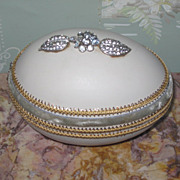 "EXQUISITE Fancy Vintage Miniature ""Jeweled"" Egg Trinket Box"