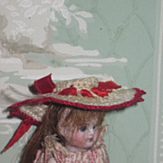 FANCY Vintage Hand Crocheted Miniature Doll Hat