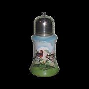 SALE! Rare Circa 1900 Hand Painted English Porcelain Sugar Shaker/Muffineer!