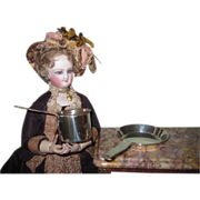 RARE Jeweler's Miniature Vintage Sterling Silver Pot and Pan Set~FASHION DOLL Size!