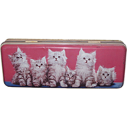 ADORABLE Vintage English Toffee Tin with Playfull KITTENS!