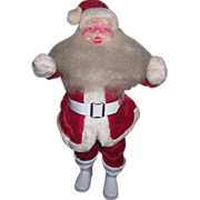 "CHARMING Vintage 15"" Plush Santa Doll in Red Velvet!"