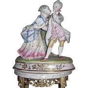MAGNIFICENT Antqiue Parian Porcelain French Boy and Girl Courting Couple~AS FOUND!