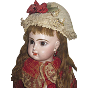 "SOLD HOLIDAY SALE!  Magnificent 19"" Antique Size 8 Brown--Eyed French Tete Jumeau Bebe!"