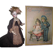"SOLD RARE Antique ""Sewing Made Easy"" Lithographed Children's Toy With Original Conte"