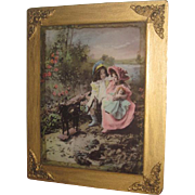 SALE PENDING CHARMING Victorian C. 1898 Ullman Manufacturing Co. Framed Color Tinted Photograp