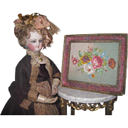 EXQUISITE Rare Antique French Miniature Early Dresden Paper Candy Container Box!