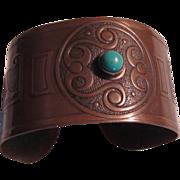 Old Copper Bracelet Unusual Designs