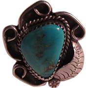 Native American Silver Turquoise Ring