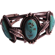 SOLD Native American Silver Turquoise Bracelet